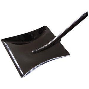 Metallschaufel, Kehrichtschaufel, schwarz, Stahlblech, Pulverbeschichtet